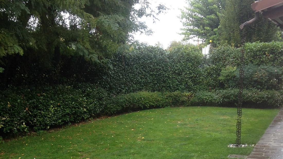 giardino in villa