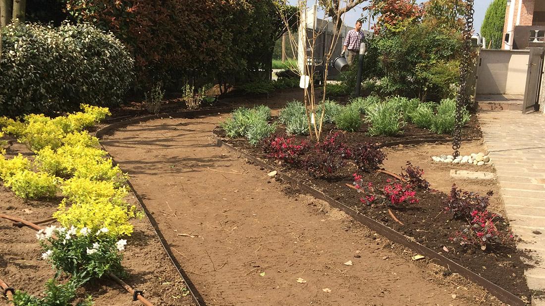 giardino villa lavori in corso