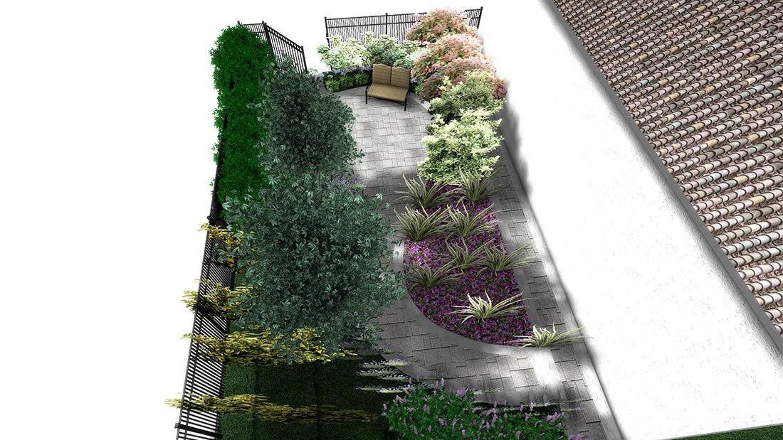 progetto giardino villa